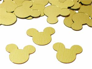 Mickey Mouse Confetti, Metallic Gold