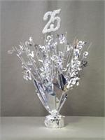 25th Anniversary Centerpiece Spray with Base