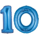 Blue Number 10 Balloons, 40