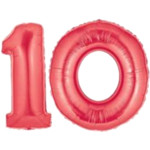 Red Number 10 Balloons, 40