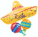Sombrero Balloon with Maracas