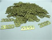 Number 2020 Confetti Gold