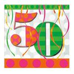 50th Birthday Napkin, 16 count