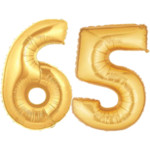 Large Gold Number Balloon 65