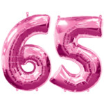 Pink Number 65 Balloon, 34