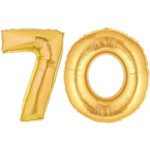 Gold Number 70 Balloon, 40