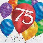 New 75th Birthday Napkins Luncheon
