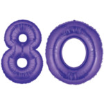 Purple Number 80 Balloon, 40