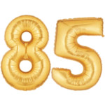 Gold Number 85 Balloon, 40