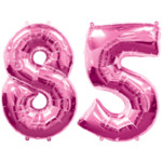 Pink Number 85 Balloon