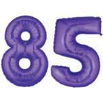 Purple Number 85 Balloon, 40