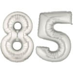 Silver Number 85 Balloon, 40
