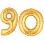 Gold Number 90 Balloons, 40