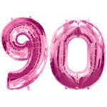 Pink Number 90 Balloons, 34