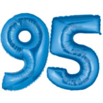 Blue Number 95 Balloons, 40