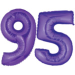 Purple Number 95 Balloons, 40