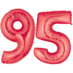 Red Number 95 Balloons, 40""
