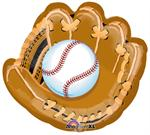 Large Baseball and Glove Mylar Balloon