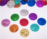 Basketball Confetti Metallic Multi Color Bulk or Packet