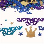 Birthday Boy Confetti Shiny Metallic