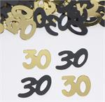 30 Confetti Gold and Black