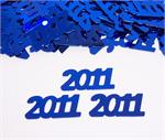Blue Number 2011 Confetti