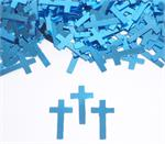 Metallic Blue Cross Confetti