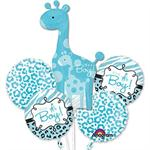 Giraffe It's a Boy Balloon Bouquet