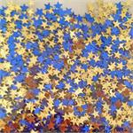 Blue and Gold Star Shaped Confetti
