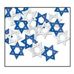 Blue and Silver Star of David Confetti