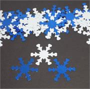 Blue and White Snowflake Confetti