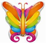 Large Butterfly Shaped Mylar Balloon in Bright Colors