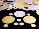 Metallic Polka Dot Confetti Silver and Gold