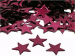 Burgundy Star Shaped Confetti Metallic