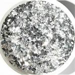 Square Silver Glitter by the Pound