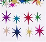 Starburst Confetti, Multi Colored Metallic Starbursts