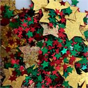 Christmas+Stars+Confetti Gold+Green+Red