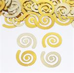 Double Gold Curly Q Confetti