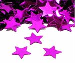 Fuchsia Star Shaped Confetti Metallic