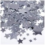Silver Star Shaped Confetti Assorted Sizes