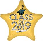 Gold Class of 2019 Decoration Balloon Star