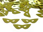 Metallic Gold Mask Shaped Confetti