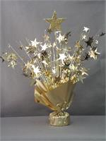Gold Glitter Star Centerpieces | Set of 6 Centerpieces Weighted to hold balloons