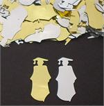 Graduation Confetti Gold and Silver Graduate Silhouettes