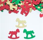 Rocking Horse Confetti Red, Gold, and Green