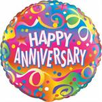 Bright Happy Anniversary Balloon