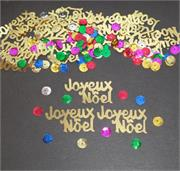Joyeux Noel Confetti Gold and Multi Sparkles