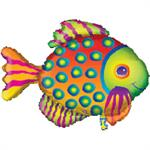 Tropical Fish Shaped Balloon Large Mylar