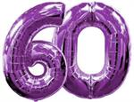 Large Purple Number 60 Balloons