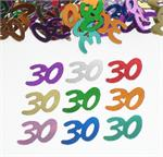 Multi Colored Number 30 Confetti